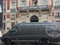 Athletico Madrid`s nieuwe tennue`s brengen naar div. fanshops in Madrid
