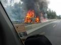 Truck on fire Stuttgard Duitsland