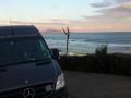 Bidart Frankrijk even Supboard uitlaten opweg naar Madrid